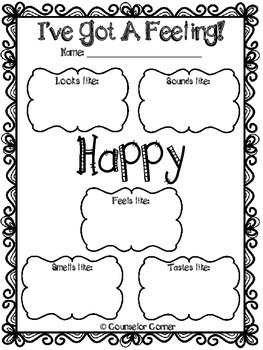 I've Got A Feeling! Worksheet Set