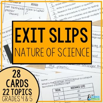 Nature of Science Exit Slips
