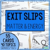 Physical Science Exit Slips