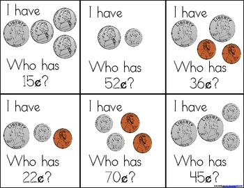 I've Got Money, Honey! A Coin-Themed, I Have, Who Has? Game (CommonCore Aligned)
