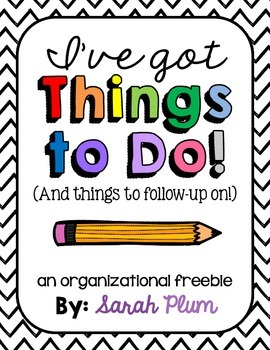 I've Got Things To Do - A Checklist Freebie