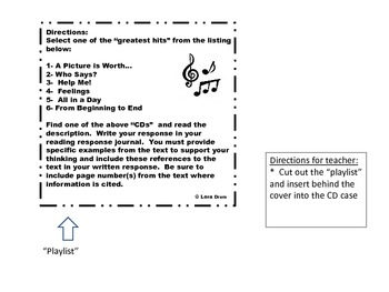 I've Got the Music In Me - Reading Responses for Literary Texts