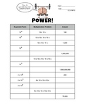 I've Got the Power!  Powers of 10.