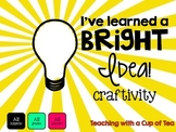 I've learned a BRIGHT idea! Craftivity/Mini-Book {multi-gr
