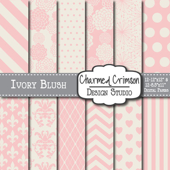 Ivory Blush Digital Paper 1031
