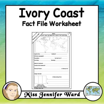 Ivory Coast Fact File Worksheet