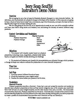 Ivory Soap Souffle (Chemistry)