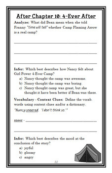Ivy + Bean Make the Rules (Annie Barrows) Novel Study / Comprehension (27 pages)