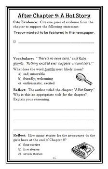 Ivy + Bean No News Is Good News (Annie Barrows) Novel Study / Comprehension