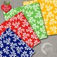 Ivy Digital Papers, Leaf Papers and Backgrounds, White on Color Papers AMB-591