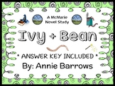 Ivy and Bean (Annie Barrows) Novel Study / Reading Comprehension  (26 pages)