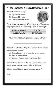 Ivy + Bean BUNDLE (Annie Barrows) 3 Novel Studies : Books #1-3   (80 pages)