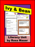 Ivy and Bean Book 1 Reading Distance Learning School or Home Activities