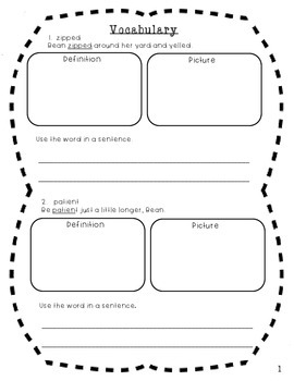 Ivy and Bean Comprehension Packet