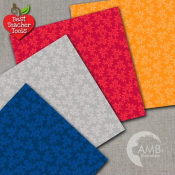 Ivy Digital Papers, Leaf Papers and Backgrounds, 16 Tonal papers AMB-593