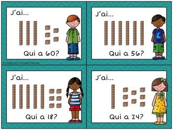 J'AI QUI A la Valeur de Position Place Value Game in French