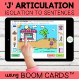 J Articulation Boom Cards™   Isolation to Sentences   Dist