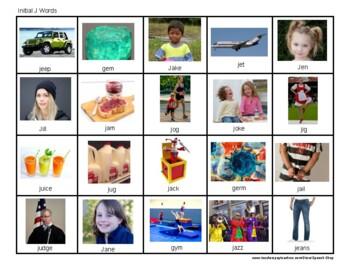 J Articulation photos, J Sound, Speech Therapy, Homework