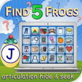 J Find 5 Frogs - Articulation Activity - Teletherapy - Dig