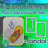 J = JANDAL {Kiwiana Themed 'Make & Take' Alphabet Set}