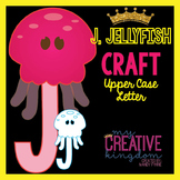 J - Jellyfish Upper Case Alphabet Letter Craft