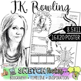 J.K. ROWLING, WOMEN'S HISTORY, BIOGRAPHY, TIMELINE, SKETCH