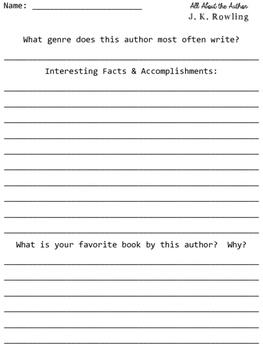J. K. Rowling Author Study