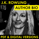 J.K. Rowling Author Study Worksheet, Harry Potter Author Biography Activity CCSS