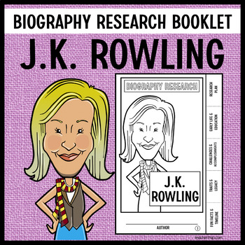 J.K. Rowling Biography Research Booklet
