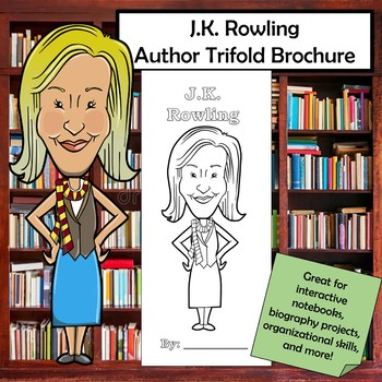 J.K. Rowling Biography Trifold Brochure