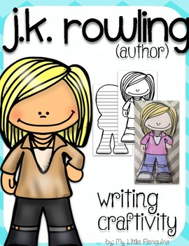 """J.K. Rowling """"Craftivity"""" Writing page (Author of Harry Potter)"""