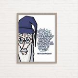 J.K. Rowling / Dumbledore quote wall art, poster, classroom decor