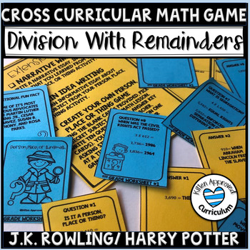 Free 5th Grade Division Worksheets Harry Potter J.K Rowling 5.NBT.6