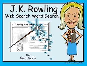 J.K. Rowling- Web Search Word Search Puzzle