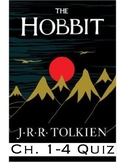 "J.R.R Tolkien's ""The Hobbit"" Ch. 1-4 Quiz (Answer Key included)"