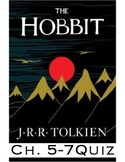"J.R.R Tolkien's ""The Hobbit"" Ch. 5-7 Quiz  (Answer Key included)"