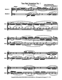 J. S. Bach 2 Part Invention Duets (nos. 1-15) for Mallet Percussion