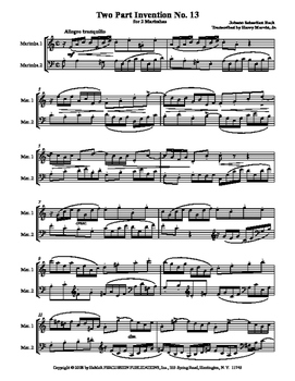 J.S. Bach: 2-Part Inventions