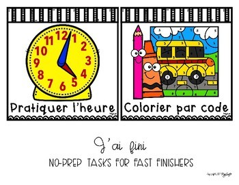 French Early Finishers No-Prep Tasks