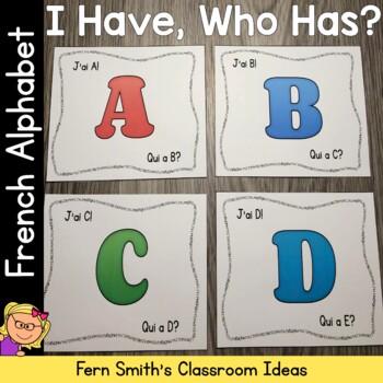 J'ai, Oui A? l'alphabet français Cards