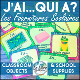 J'ai, Qui A? French School Supplies Vocabulary Review Game I Have, Who Has
