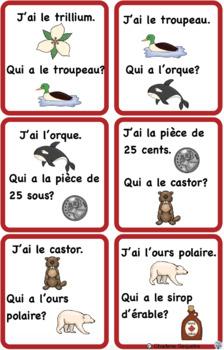 J'ai, Qui A? Les Symboles Canadiens Task Cards