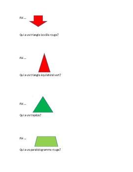J'ai... Qui a....- Activité sur les propriétés des quadrilatères