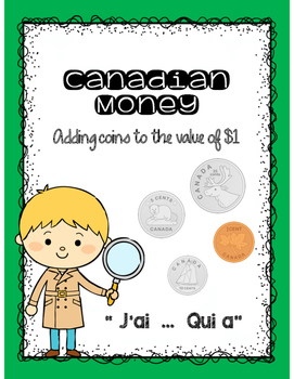 J'ai Qui a French Card Game - Coins to a value of $1.00 (L'argent)