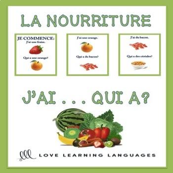 J'ai... Qui a? French food vocabulary game - La nourriture