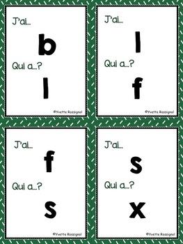 J'ai... Qui a...? (L'alphabet) French Alphabet, lettres minuscules