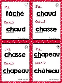 J'ai... Qui a...? Le son CH (French phonics) les sons