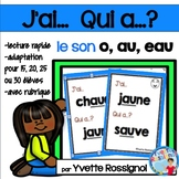 French Sight Words Game |  Jeu de mots fréquents pour le son O AU et EAU