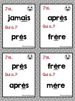 J'ai... Qui a...? Le son è, ê, ei, ai, et (French phonics) lecture