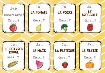 J'ai ... Qui a ... ? Les fruits et légumes